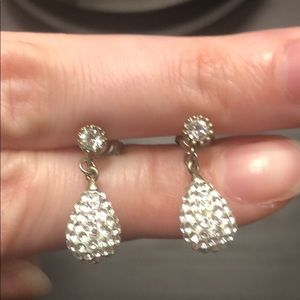 Sterling Silver Sparkly Earrings